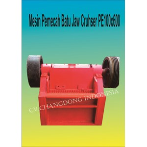Mesin Pertambangan Stone cruhser Lokal PE100x600