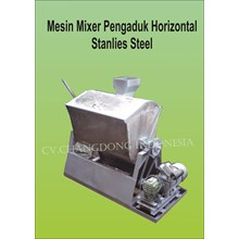 Mesin Pengaduk Mixer Hrizontal stainless steel