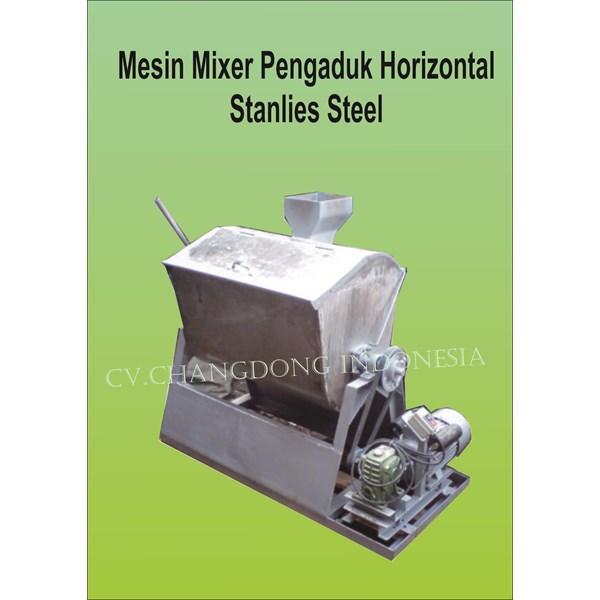 Mesin Pengaduk Mixer Hrizontal stainless steel