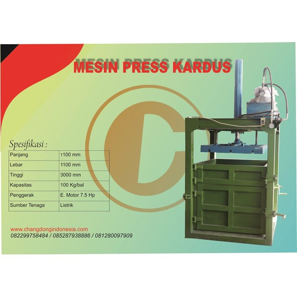 Mesin Press Kardus Hydrolic