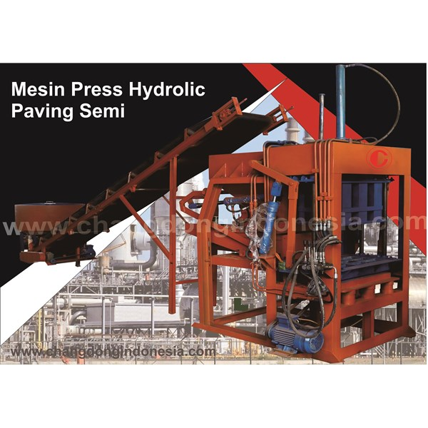 Mesin Cetak Bata / Mesin Paving Block Hydrolic Model semi