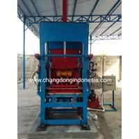 Mesin Cetak Paving Block Dan Batako Semi Otomatis PLTU Pelabuhan Ratu