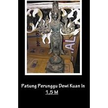 bronze statue of the goddess Kuan in
