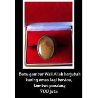 Batu Gambar Wali Allah Berjubah Kuning Emas 1