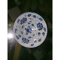 jual mangkok keramik antik dinasti motif warna biru harga
