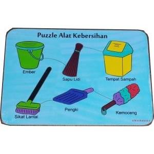 Puzzle Alat Kebersihan
