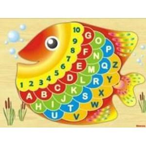 Puzzle Angka Dan Huruf Ikan