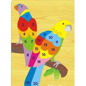 Puzzle Angka Burung Kakaktua