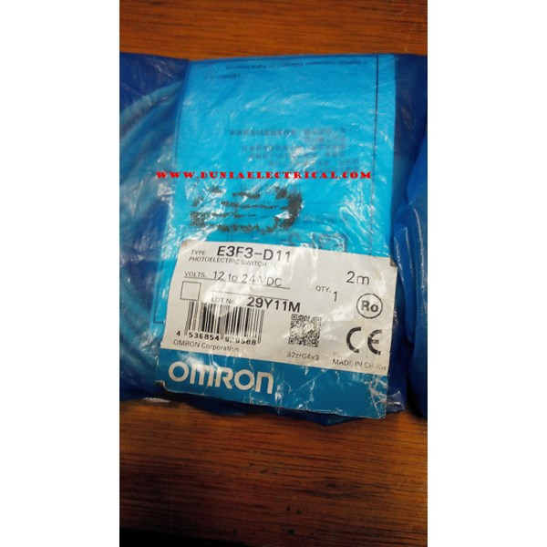 Photoelectric Switch E3F3-D11 Omron Saklar