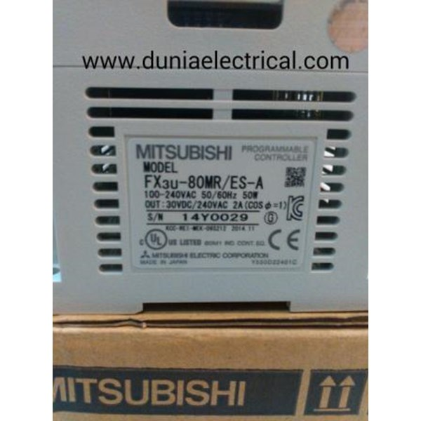 Programmable Controllers Mitsubishi / PLC FX3U- 80MR ES-A MITSUBISHI