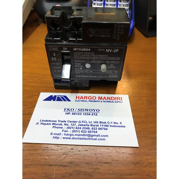ELCB / Earth Leakage Circuit Breaker Mitsubishi NV-2F