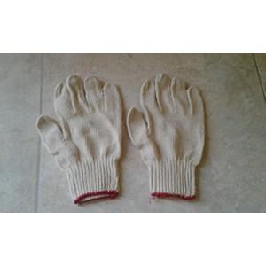Sarung Tangan Benang Rajut Pergelangan Merah