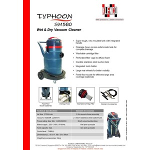 Wet & Dry Vacuum Cleaner Klenco Typhoon Sm580