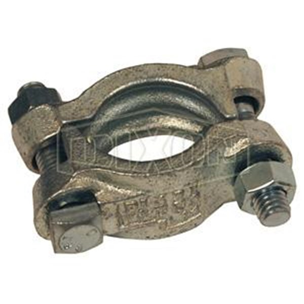 Double bolt clamp without sadle