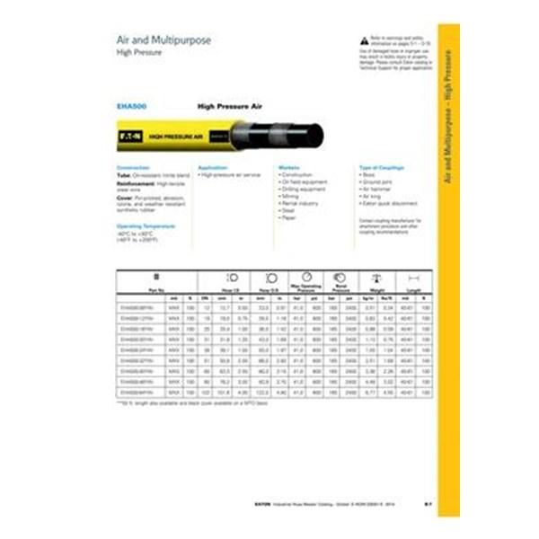Selang Industri EATON EHA 500 Compressed Air Hose High Pressure