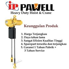Sp Pe 250 Kg  Lifting 6 Meter Pawell Electric Chain Hoists Single Phase