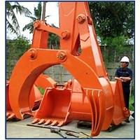 Fix Log Grapple Bucket Excavator