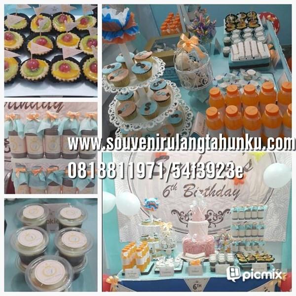 souvenir desert table birthday