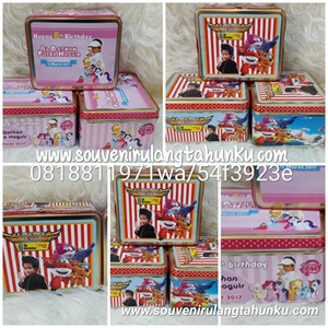 Kotak Kaleng Tema Little Pony dan Super Wings