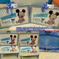 Jual Meja Printing Kayu Tema Mickey 2