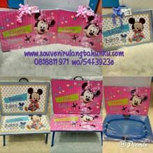 Meja Printing Kayu Tema Mickey