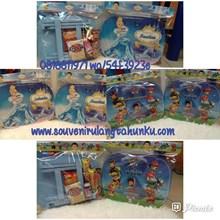 Paket Meja Lipat Kayu dan Snack Tema Paw Patrol dan Cinderella