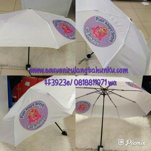 Payung Lipat Sablon 4 dan 2 sisi