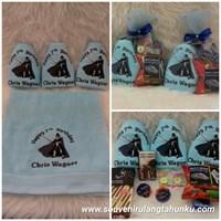 Paket Handuk Bordir dan Snack
