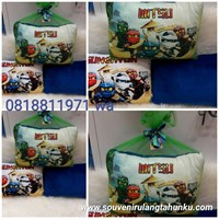 Bantal Yelvo uk 40x30 Tema Ninja Go