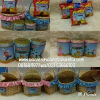 Packages of Parcel Piggy Bank and Snack 2 Kinds