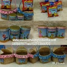 Paket Rotan Parcel Celengan dan Snack 2 Macam