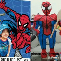 Pinata Personalized Tema Spiderman 3D Besar