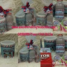 Paket Souvenir Mug Printing dan Snack 4 Macam