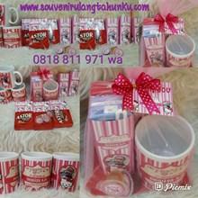Paket Souvenir Mug dan Snack 3 Macam