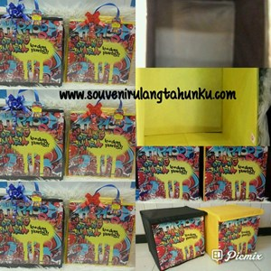 Souvenir Toy Box Uk 30x30x30 Karton Tebal