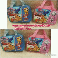 Souvenir Tas Kitab Tema Super Wings