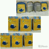 Souvenir Tas Tote Bag Bordir dan Art Case Tema Paus 1
