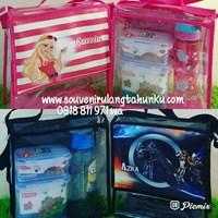 Souvenir Tas Mika Printing Tema Barbie dan Transformers 1