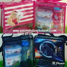 Souvenir Tas Mika Printing Tema Barbie dan Transformers