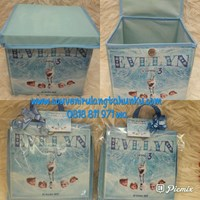 Souvenir Toy Box Uk 20x20x20 Tema Frozen dg Plastik Pita dan Thx Card