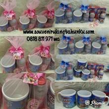 Paket Souvenir Mug Printing dan Snack 4 Macam Tema Paw Patrol