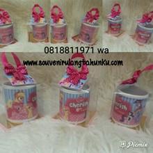 Souvenir Mug Printing dan Mika Box Tema Little Pon