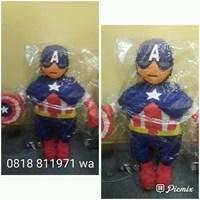 Jual Souvenir Pinata Personalized Captain America 3D 2