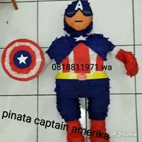 Souvenir Pinata Personalized Captain America 3D