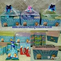 Souvenir Kotak Plastik dan Snack 4 Macam Tema Baby Boss
