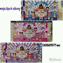 Souvenir Meja Lipat Printing Tema Tsum Tsum Carnival