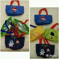Souvenir Bag Lunch Box with Alumunium Foil