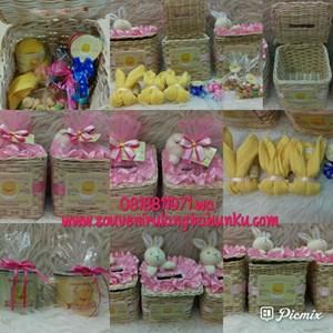 Paket Souvenir Rotan Tempat Tisu Handuk dan Snack 2 Macam Tanpa Mug Enamel