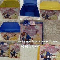 Souvenir Toy Box uk. 30x30x30 Tema Beauty and The Beast