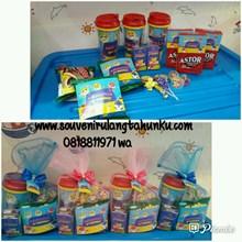 Paket Souvenir Tumbler dan Snack 6 Macam Tema Baby
